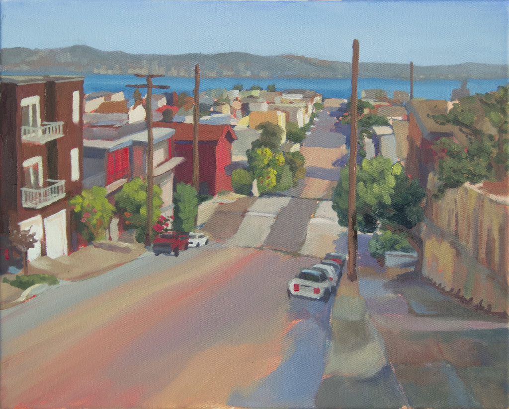 "Claire Lau, Road to the Bay, oil on canvas, 16""x20"", 2015"