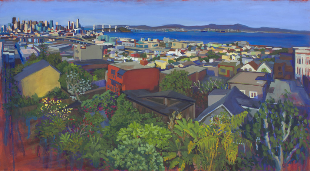 "Claire Lau, The Bay, oil on canvas, 25""x45"",2016"